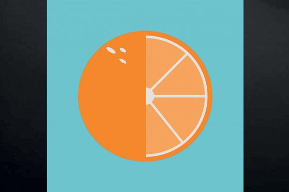 tableau sur toile orange minimaliste