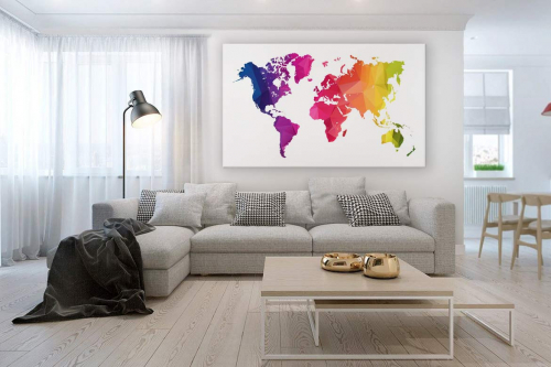 carte-du-monde-déco-colorée--happy-world