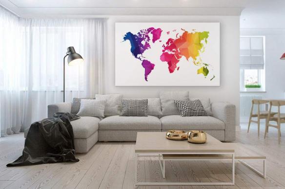 carte-du-monde-déco-colorée--happy-world