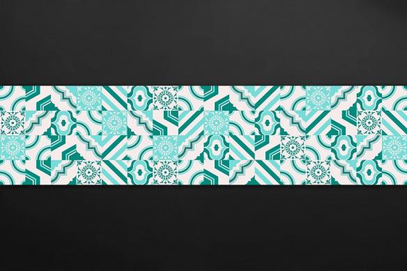 crédence design carreaux de ciment bleu ciel rita
