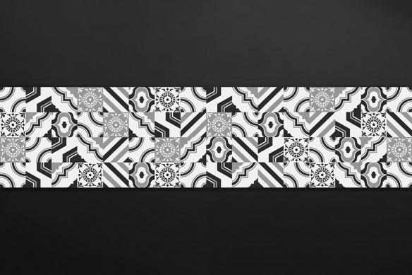 crédence moderne carreaux ciment noir rita