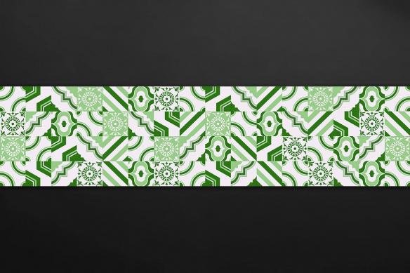 credence-originale cuisine carreaux ciment vert rita