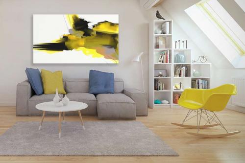 toile-design-jaune-et-noir-terra