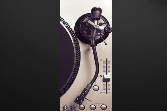 sticker pour porte rétro platine vinyle