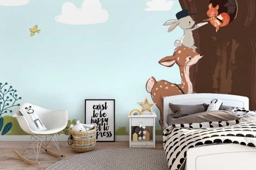 Papier peint chambre enfant Charmants Facteurs