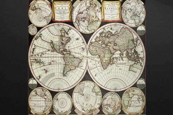 Carte du monde originale vintage