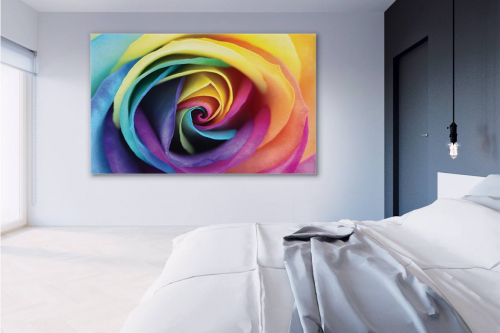 decoration-murale-chambre-rose-multicolore