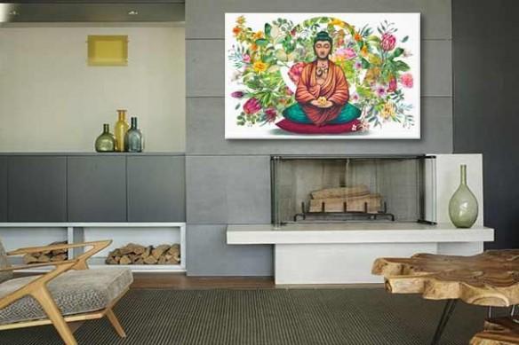 toile-bouddha-salon