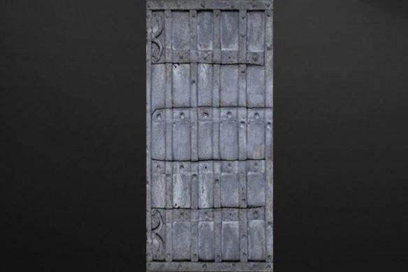 stickers porte industriel métal gris