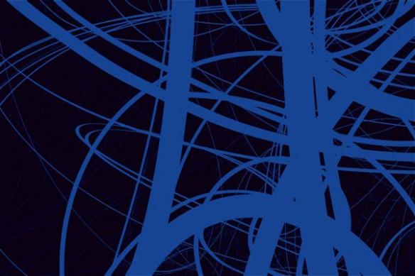 papier peint design draft bleu