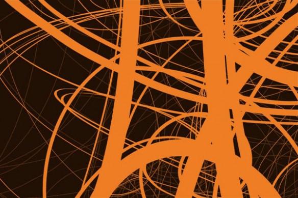 papier peint tendance draft orange