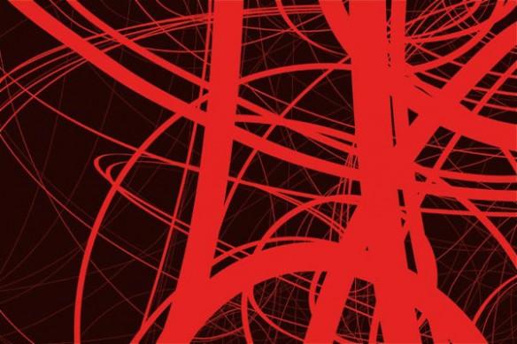 papier peint tendance draft rouge