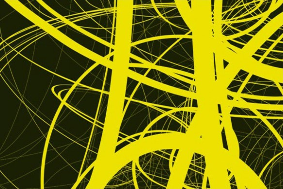 décor mural design draft jaune