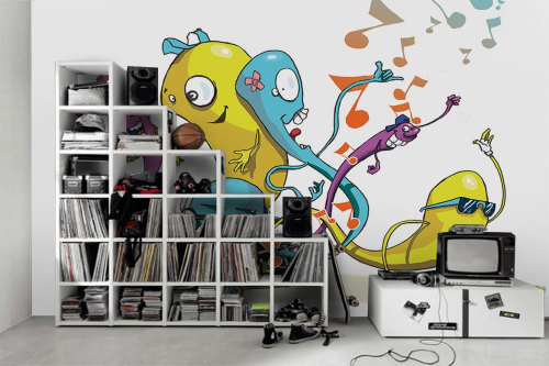 chambre-enfant-garçon-papier-peint