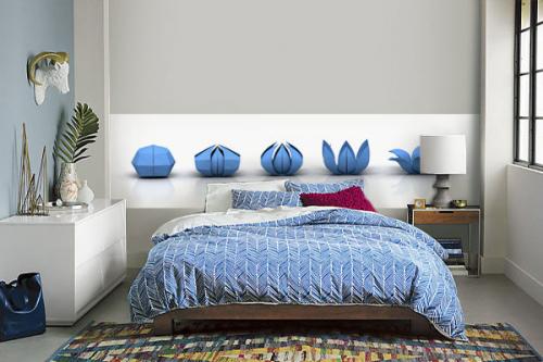 frise-murale-chambre-origami-bleu