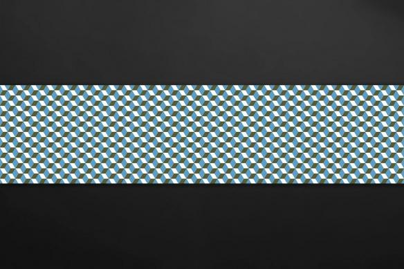 crédence imitation carreaux de ciment losanges bleu