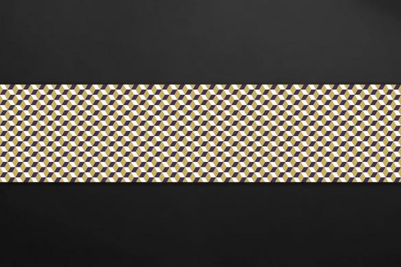 sticker imitation carreaux de ciment losanges jaunes