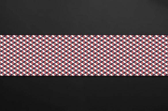 carreaux de ciment cuisine losanges rouge