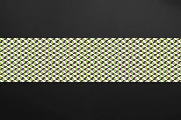 crédence adhésive imitation carreaux de ciment losanges vert