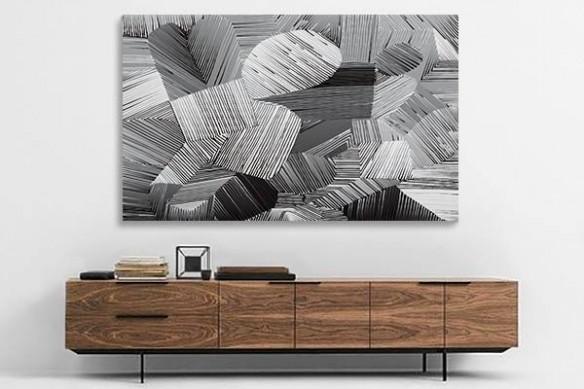 toile abstraite fil de fer