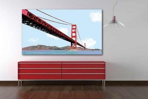 Tableau pont San Francisco par Noox