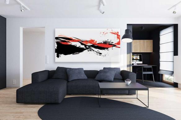 toile-murale-abstraite-rouge-et-noir-abstraction
