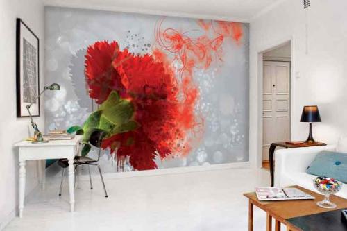oeillet-fleur-rouge-papier-peint-fleuri