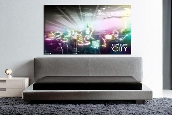 tableau new york city by night izoa. Black Bedroom Furniture Sets. Home Design Ideas