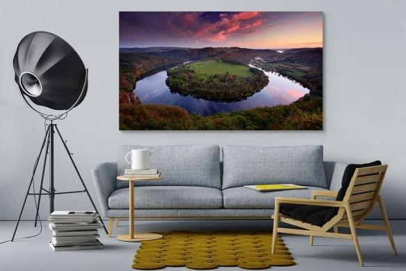 Tableau panoramique forêt et rivière