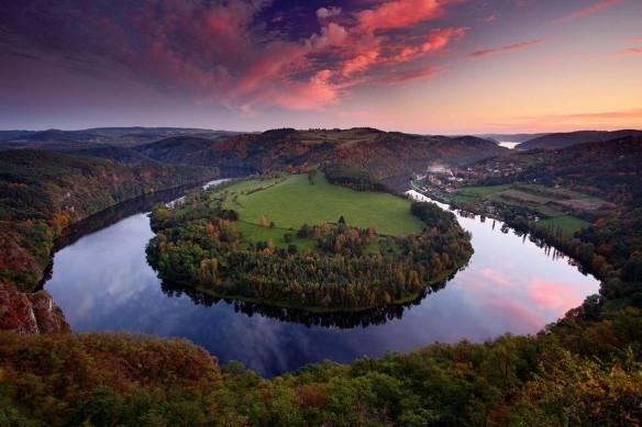 tableau-foret-paysage-rivière