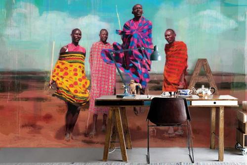 Papier peint ethnique Maassaï