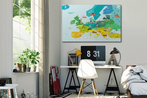 Tableau carte du monde Europe