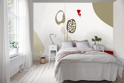 Papier peint chambre Ephémère