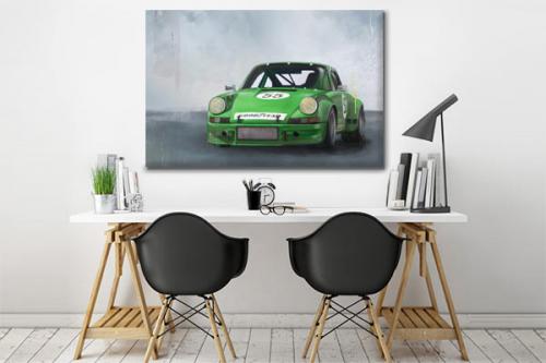 tableau-voiture-sport-verte
