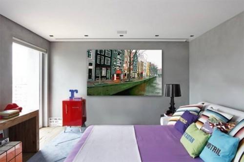 Tableau XXL Balade à Amsterdam