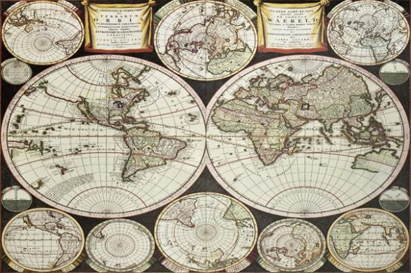 papier peint carte du monde Terrarum Orbis