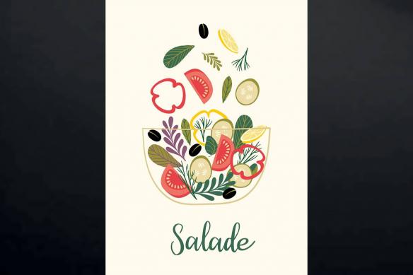 cadre-mural-pour-cuisine-salade