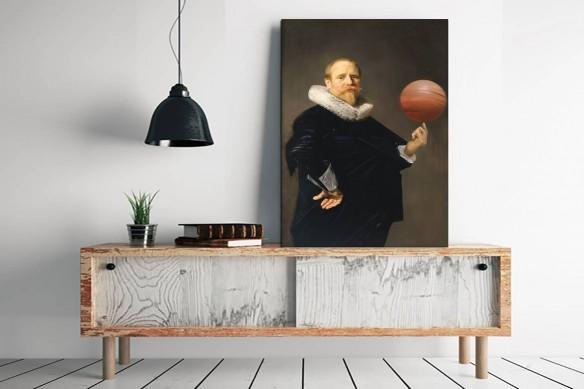 Cadre mural Oncle Emile le basketteur