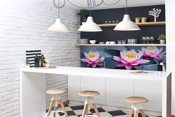 Crédence pour cuisine lotus sacré