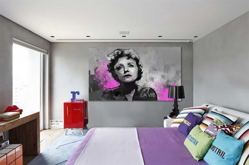 Tableau célèbre Edith Piaf, La Vie en Rose
