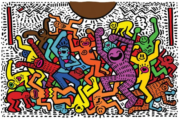 tableau-pop-art-concert-coloré