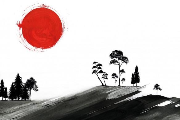 cadre-japonais-sumi-e