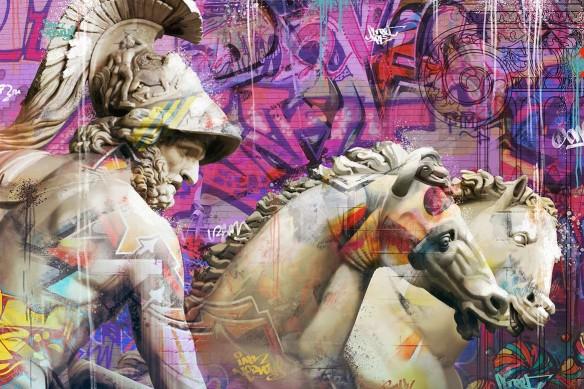 tableau-art-moderne-grecque-antique-violet
