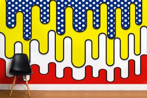 Papier peint street art Warhol