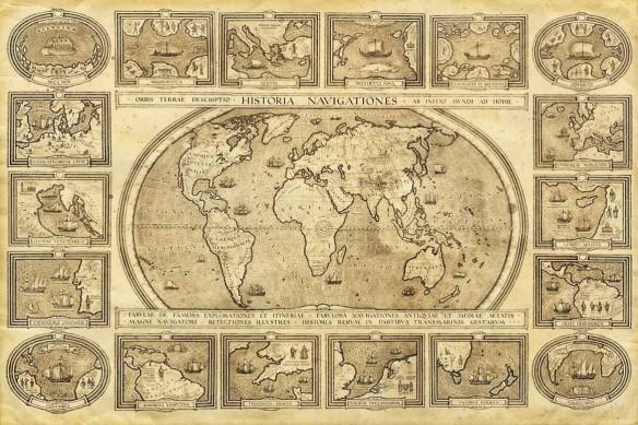 papier peint mappemonde historia navigationes