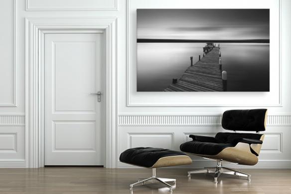 Tableau noir et blanc Au bout des rêves