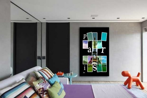 tableau grand format j 39 aime paris izoa. Black Bedroom Furniture Sets. Home Design Ideas