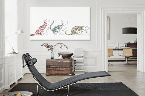 cadre-mural-3-petits-chats