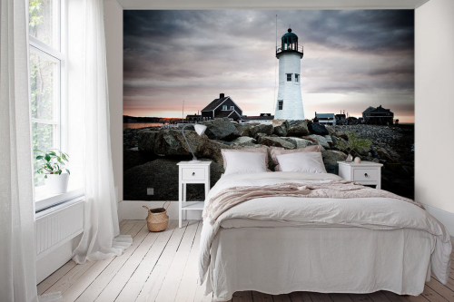 tapisserie-trompe-oeil-chambre-phare-blanc
