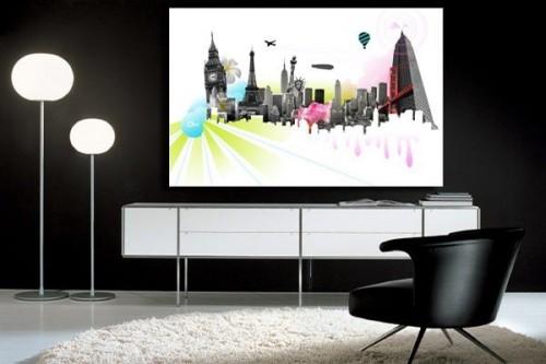 Chambre Deco Ny : Tableaux xxl grand tableau contemporain izoa